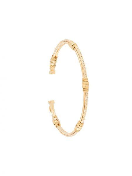 Золотистый желтый плетеный браслет Gas Bijoux