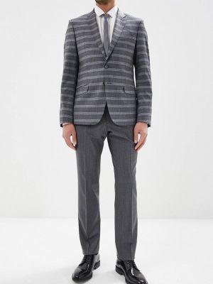 Костюмный серый костюм классический Bazioni