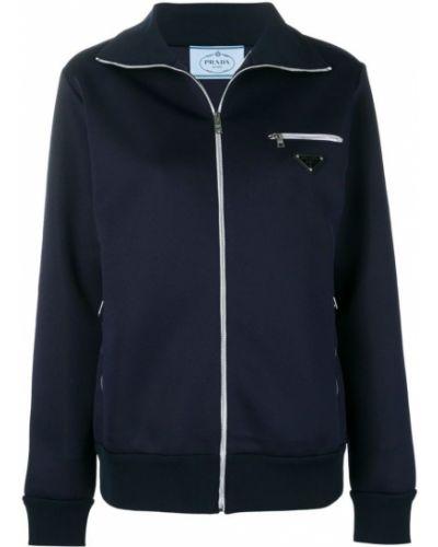 Спортивная куртка на молнии с карманами Prada