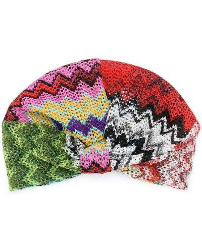 Вязаная шапка с принтом цветная Missoni