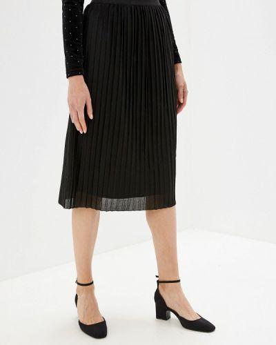 Плиссированная юбка черная Sela