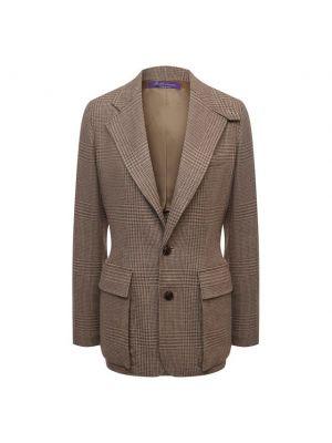 Кожаный пиджак - коричневый Ralph Lauren