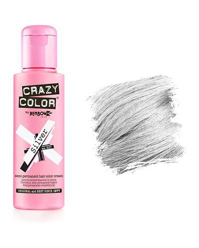 Краска для волос из серебра серебряный Crazy Color