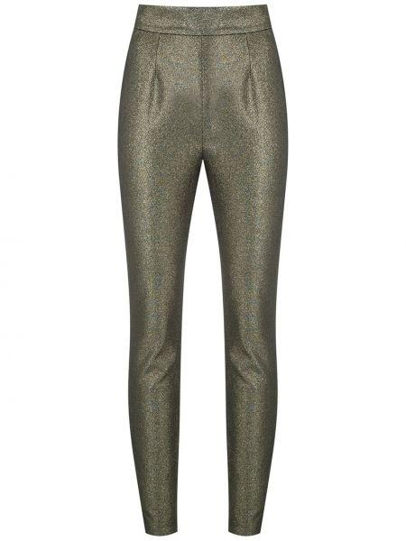 Хлопковые желтые облегающие брюки Dolce & Gabbana