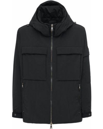 Czarna kurtka z nylonu Tatras