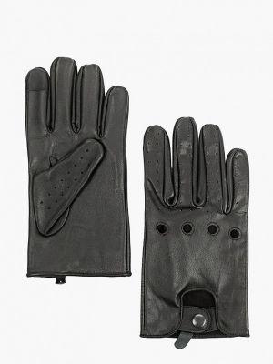 Кожаные перчатки - черные Jack & Jones