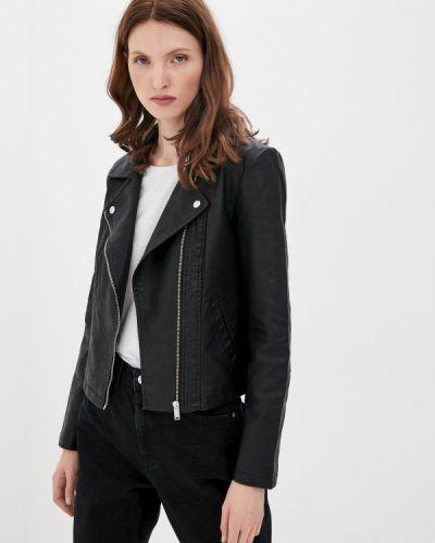 Кожаная черная кожаная куртка Jacqueline De Yong