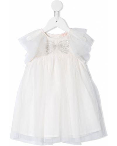 Прямое платье с рукавами из фатина на пуговицах с вырезом Tutu Du Monde