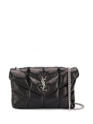 Кожаная сумка на цепочке с пряжкой Saint Laurent