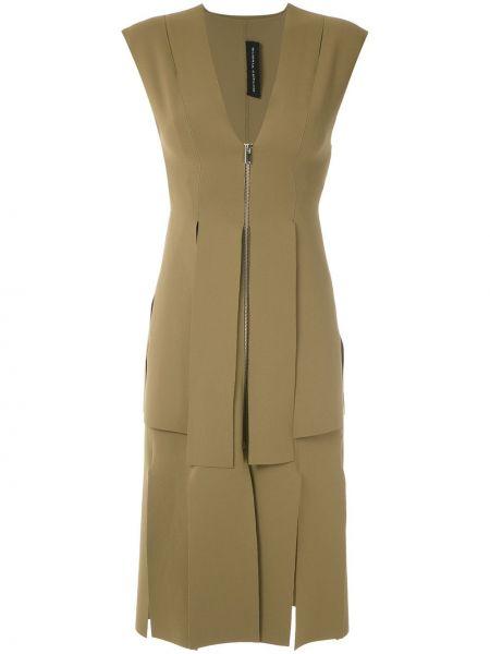 Платье на молнии без рукавов с вырезом узкого кроя Gloria Coelho