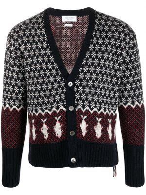Niebieski sweter moherowy Thom Browne