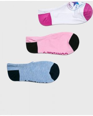 Białe skarpety bawełniane z printem Converse