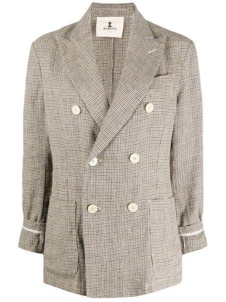 Пиджак бежевый льняной Barena