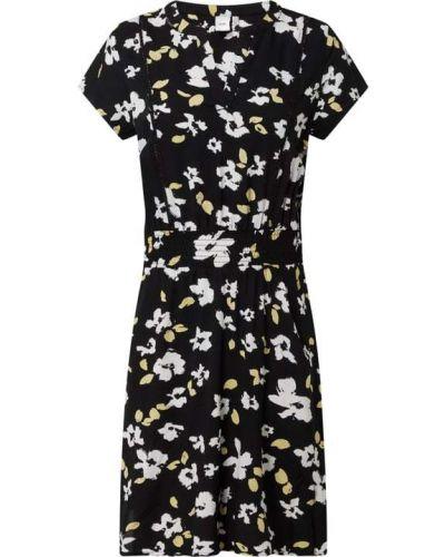 Czarna sukienka rozkloszowana z wiskozy Ichi