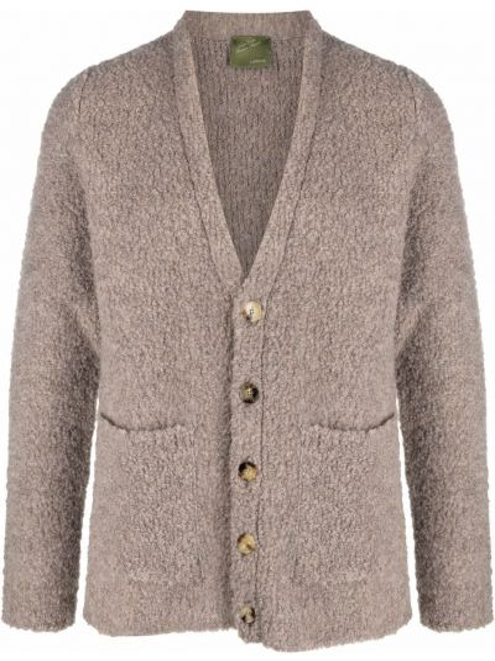 Beżowy sweter z dekoltem w serek Lardini