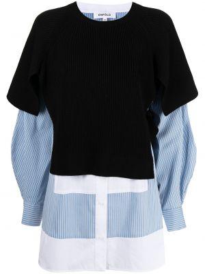 Koszula wełniana - czarna Enfold