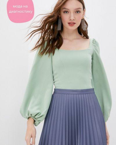 Брендовая зеленая блузка Lipinskaya Brand