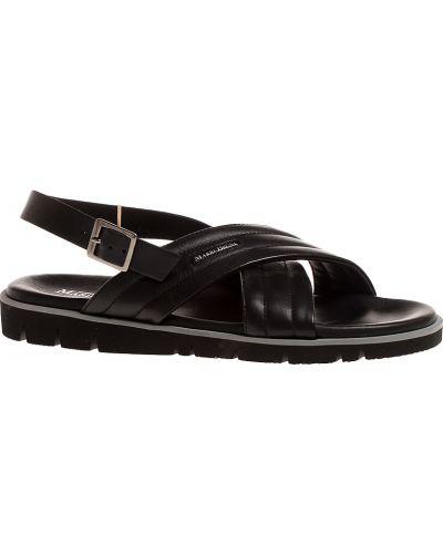 Кожаные сандалии - черные Mario Bruni