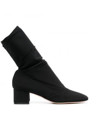 Черные носки с квадратным носком квадратные Gianvito Rossi