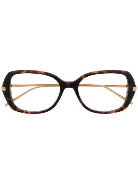 Золотистые коричневые очки металлические Boucheron Eyewear