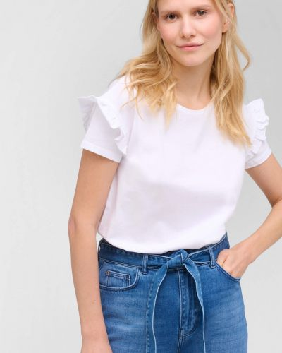Biały t-shirt bawełniany krótki rękaw Orsay