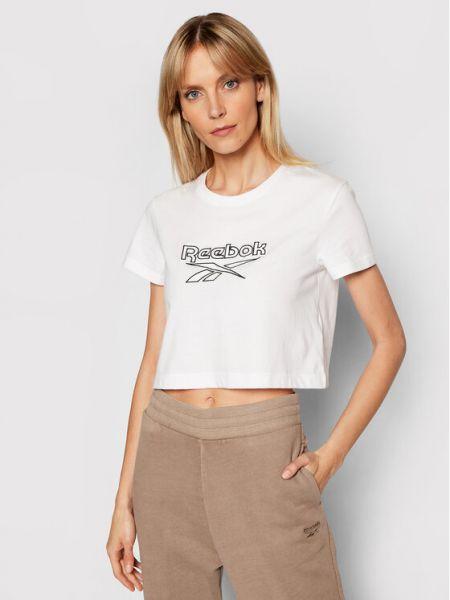 T-shirt - biała Reebok Classic