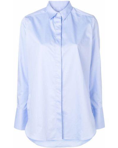 Классическая синяя классическая рубашка на пуговицах Frenken