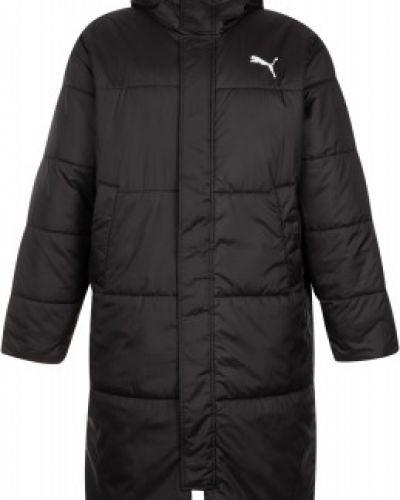 Черная утепленная длинная куртка на молнии Puma