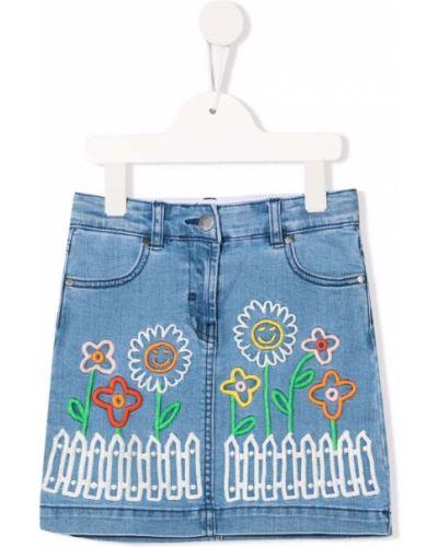 Spódnica jeansowa - niebieska Stella Mccartney Kids