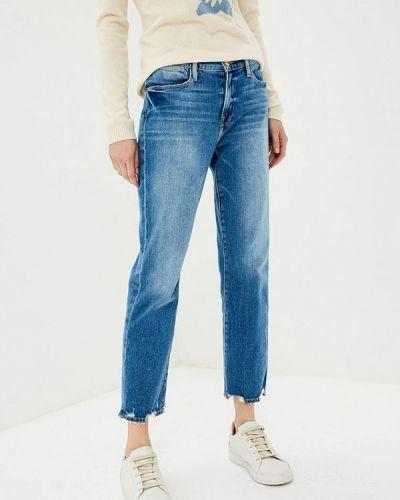 Синие прямые джинсы Frame