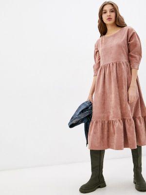 Прямое платье - розовое Vivostyle