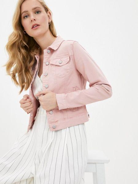 Джинсовая куртка весенняя розовая Vila