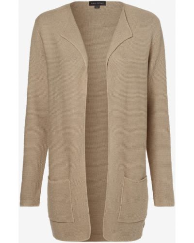 Beżowy garnitur elegancki dzianinowy Franco Callegari