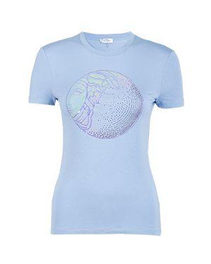 Футболка из вискозы - голубая Versace Collection