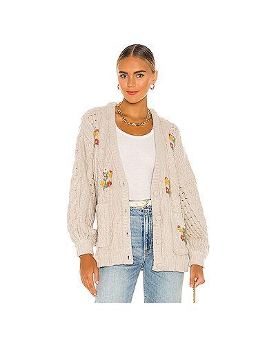Акриловый свитер с вырезом с карманами For Love & Lemons