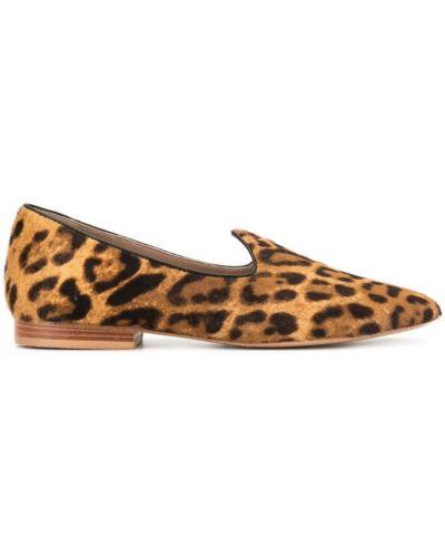 Лоферы леопардовые коричневый Le Monde Beryl