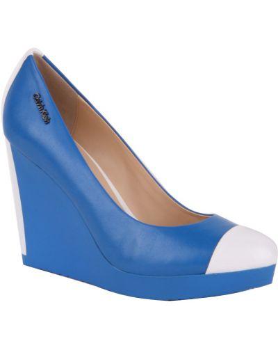 Синие туфли на каблуке Calvin Klein