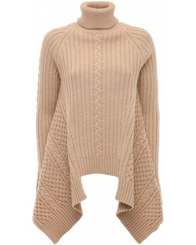 Коричневый шерстяной свитер Alexander Mcqueen