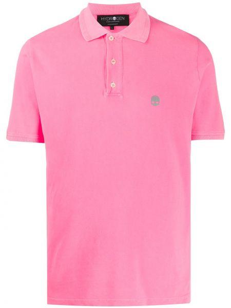 Różowa klasyczna koszula krótki rękaw bawełniana Hydrogen