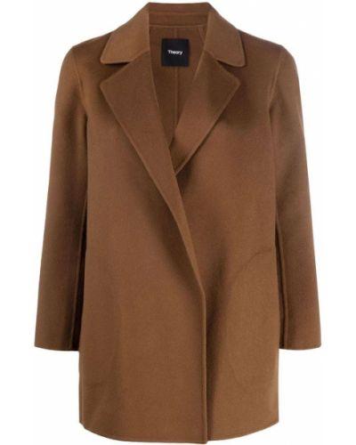 Шерстяное пальто - коричневое Theory