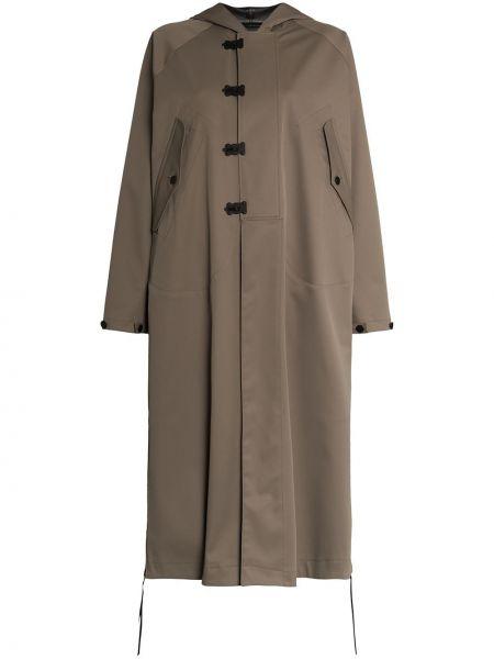 Płaszcz z kapturem zielony Hyke