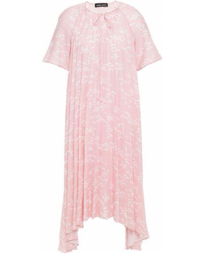 Платье из крепа - розовое Markus Lupfer
