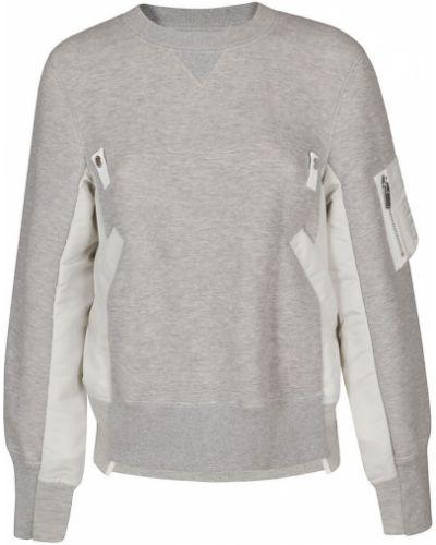 Szary sweter Sacai