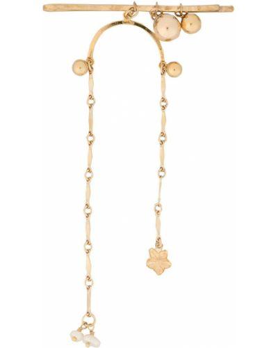 Złote klipsy perły pozłacane Petite Grand