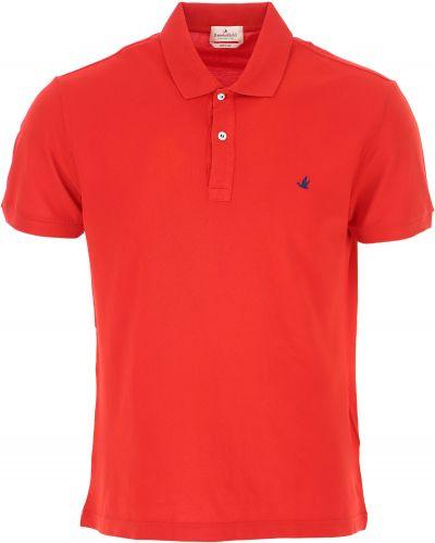 Czerwony t-shirt bawełniany krótki rękaw Brooksfield