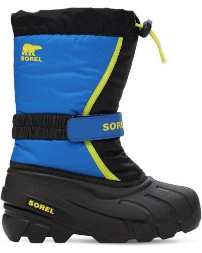 Фетровые синие сапоги с подкладкой Sorel