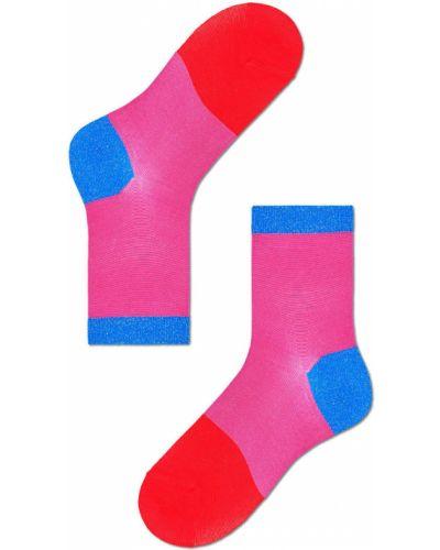 Różowe skarpety z wiskozy Happy Socks