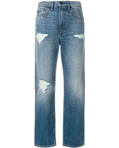 Укороченные джинсы рваные Rag & Bone/jean