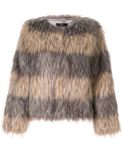 Серая шуба из искусственного меха Unreal Fur