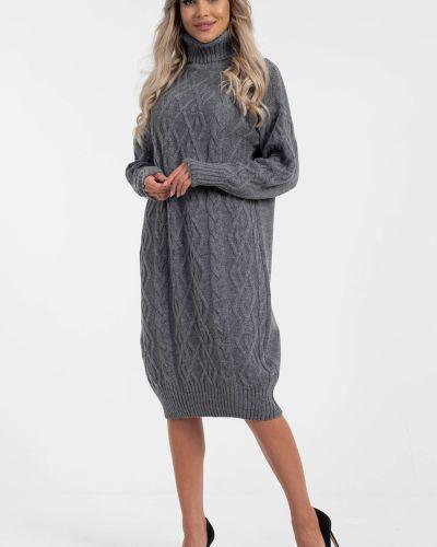 Прямое вязаное платье с воротником с вырезом Wisell